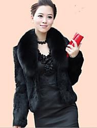 Wraps casamento / Casacos de Pêlo Boleros Manga Comprida Pelo Artificial Preto / Borgonha / Marfim Casamento Penas/ Pelo Aberto à Frente