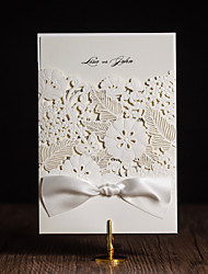 Personalized Gate-Fold Wedding Invitations Invitation Cards-50 Piece/Set Artistic Style / Modern Style / Floral Style Art Paper Ribbons