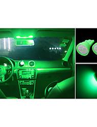 High Power 10 X green COB T10 194 168 LED 12V Instrument Dash Light Bulbs