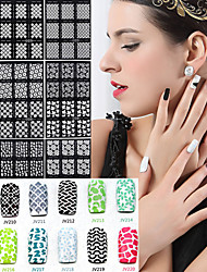 1Pcs Foreign Hot Manicure Stencil Printing Paste Manicure Wholesale Hollow Hollow Template 10 Styles