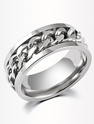 The Fashion Stainless Steel Chain Rotatable Ring Promis rings for couples