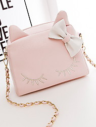 Women PU Casual Shoulder Bag / Tote White / Pink / Blue / Black