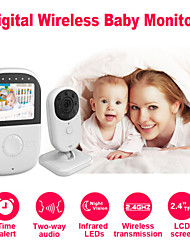 "Besteye® 2.4"" LCD Screen Babysitter Wireless Baby Monitor with Night Vision 2 Way Audio Time Alert Baby Camera"
