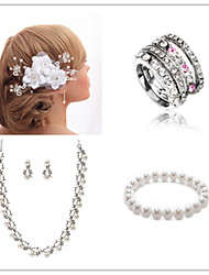 Wedding Suit(Headdress & Necklace & Earrings & Bracelet & Ring)