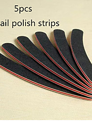 5PCS Meniscus Black Nail Polish Strip
