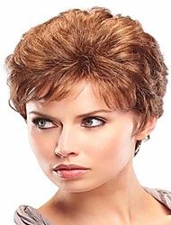 Women's Fashion Short Brown Color Synthetic Wig