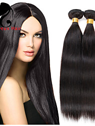 3Bundles cabelo humano cabelo reto 8-26inch cabelo brasileiro virgem tece cor natural