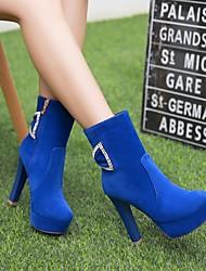Для женщин Ботинки Армейские ботинки Дерматин Осень Зима Повседневные Для вечеринки / ужина Армейские ботинки Бант На толстом каблуке
