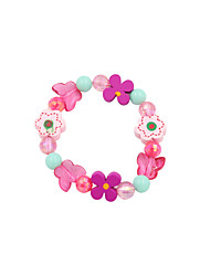 Fashion Cute Kid Pink Butterfly Adjustable Bracelet