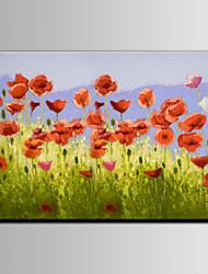 Pintada a mano Floral/BotánicoPastoral Un Panel Lienzos Pintura al óleo pintada a colgar For Decoración hogareña