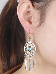 Boucles d'oreille goutte Boucle d'oreille Simple Style Européen Bohême Turquoise Alliage Ailes / Plume Argent Bijoux PourQuotidien