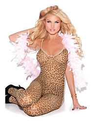 Damen Besonders sexy Nachtwäsche Leopard Nylon Elasthan Braun