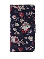 Pour Coque Sony Portefeuille / Porte Carte / Avec Support / Clapet Coque Coque Intégrale Coque Fleur Dur Cuir PU pour SonySony Xperia M4