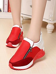 Women's Shoes Color Blocking Increased Within Breathe Freely Low Heel Comfort Fashion Sneakers Outdoor / Athletic