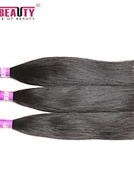 """3 unidades / lote 8 """"-30"""" 7a não transformados matérias-extensões de cabelo indiano virgem reta cabelo humano tece"""