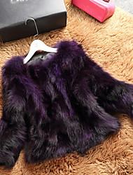 Women Raccoon Fur Top , Belt Not Included
