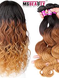 """3 PC / Los 16 """"-24"""" 7a 3t reine indische ombre Haar Farbe 1b / 4/27 # Körperwelle Menschenhaar spinnt"""