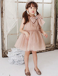 Girl's Black / Pink Dress,Lace Polyester Summer