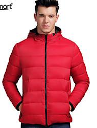 Lesmart Hombre Escote Chino Manga Larga Abajo y abrigos esquimales Rojo - MDME104012S