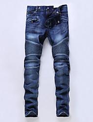 Men's Mid Rise Pants , Cotton Jeans Vintage / Casual / Party Hole All Seasons ailanting