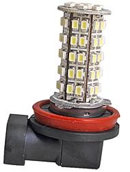 2pcs voiture h11 brouillard phares ampoules super brillantes blanc 68 LED SMD 12v lumière 220-250lm 5500k