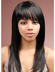 Fashion Lady Long Black Color Straight Beautiful Wigs