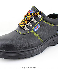 Men's Shoes Outdoor / Work & Duty Other Animal Skin Slip-on Black