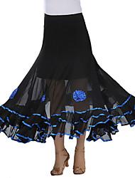 Moderner Tanz-Balletröckchen und Röcke(Blau Fuchsie Purpur Rot Königsblau,Kreppe,Moderner Tanz) - fürDamen Rock