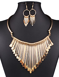 Luxury fashion brand temperament joker multilayer tassel necklace set of 0232 # ornament