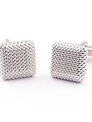 Men's Novelty Business Stainless Steel Cufflinks Square Vintage Wedding Gift