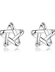 Men's Women's Stud Earrings Sterling Silver Jewelry For Wedding Party Daily