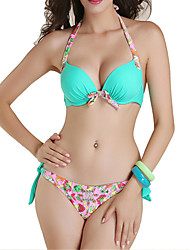 Womens Floral Push Up Padded Bikini Set