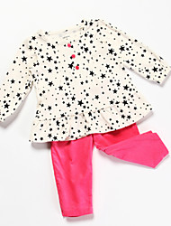 Girl's Clothing Set,Cotton All Seasons Multi-color