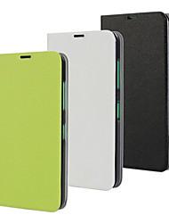 Para Funda Nokia con Soporte / Flip Funda Cuerpo Entero Funda Un Color Dura Cuero Sintético Nokia Nokia Lumia 630
