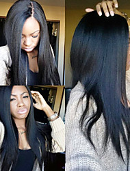 Italian Yaki African American Wig Brazilian Virgin Remy Human Hair Yaki Straight Front/Full Lace Wigs For Black Women