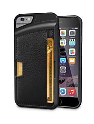 protetora TPU couro ultra-slim de volta caso para iphone 6s 6 mais