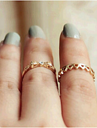 New Arrival Fashional Popular Simple Rings A Set
