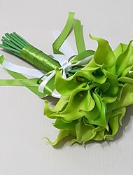 Wedding Flowers Free-form Lilies Bouquets Wedding / Party/ Evening Blue Polyester / Foam