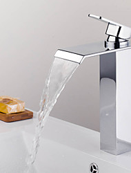 Shower Faucet / Bathtub Faucet Mixer- Contemporary - Waterfall - Brass (Chrome)