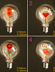 E27 220V-240V 2W Bulb Flower Bulb Burning Love Flowers Personalized Decorative Lighting