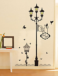 Wall Stickers Wall Decals Style Street Bird Waterproof Removable PVC Wall Stickers