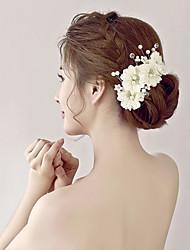 Dame / Blomsterpige Rhinsten / Imiteret Perle / Organza / Stof Medaljon-Bryllup / Speciel Lejlighed Blomster 1 Stykke