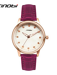 SINOBI Women's Fashion Watch Calendar Water Resistant / Water Proof Quartz Leather Band Purple