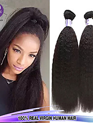 3Pcs/Lot 10-26inch Peruvian Virgin Hair Yaki Straight Unprocessed Virgin Hair Extensions Human Hair Wave Bundles
