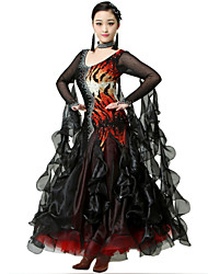 Robes ( Zébré / Rayures de tigre , Elasthanne / Crêpe , Danse moderne ) Danse moderne - pour Femme