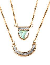 2pcs Designer Jewelry Bohemian Zircon Pendant Necklace