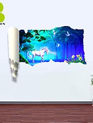 Animales / Botánico / Naturaleza muerta / Paisaje / Transporte Pegatinas de pared Calcomanías 3D para Pared , PVC
