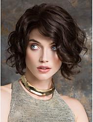 Middle Length Hair European Weave Light Black Hair Wig
