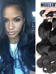"""3 unidades / lote 8 """"-30"""" cabelo humano virgem 6a malaio extensões de cabelo de onda corpo virgem 100% não transformados tece"""