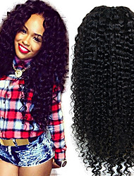 Best Human Hair Curly U Part Wig Mongolian U Part Curly Wig Virgin Curly 1''x4'' Inch Middle Part Upart For Sale